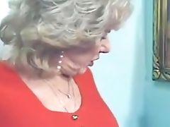 Blonde, GILF, Granny, Hairy, Masturbation, Mature, Striptease,