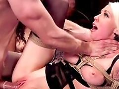 Babe, BDSM, Blonde, Blowjob, Bondage, Brunette, Brutal, Couch, FFM, Helpless,