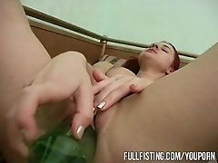 Bold, Bottle, European, Fisting, Game, Insertion, Masturbation, Pussy, Russian, Teen,