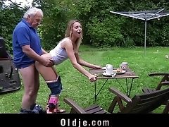 Babe, Blonde, Couple, Cum Swallowing, Cumshot, Cute, Grandpa, Hardcore, Long Hair, Old,