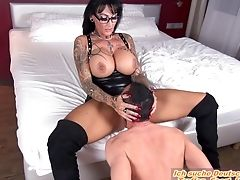 BDSM, Big Tits, Female Orgasm, Femdom, Fetish, Foot Fetish, German, Licking, MILF, Submissive,