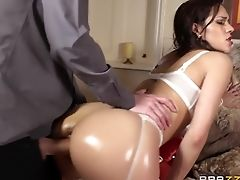 Anal Sex, Ass, Big Ass, Big Cock, Big Tits, British, Brunette, Creampie, HD, Latina,