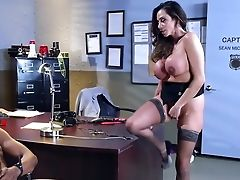Ariella Ferrera, Big Black Cock, Black, Blowjob, Desk, Extreme, Fucking, HD, Interracial, Office,