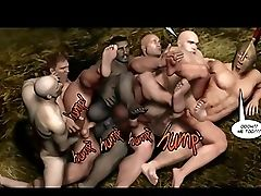 3d, Cartoon, Group Sex, Hentai, Hunk, Muscular,