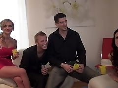 Blonde, Blowjob, Brunette, Cute, Czech, Group Sex, HD, Horny, Lingerie, Skinny,