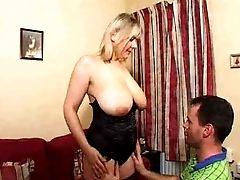 Big Tits, Blonde, Granny, Mature, Saggy Tits,