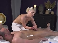 Ass, Blonde, Boobless, Creampie, Handjob, HD, Massage, Oiled, Young,