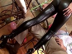 Alison Star, Ass, Big Tits, CFNM, Cumshot, Cute, Foot Fetish, Footjob, Handjob, Leather,