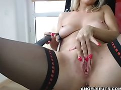 Adorable, Masturbation, MILF, Model, Nylon, Sex Toys, Solo, Stockings, Webcam,