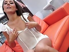 Blowjob, Brunette, Czech, Eva Strauss, HD,