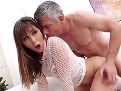 Anal Sex, Babe, Big Cock, Blowjob, Brunette, Cum, Cum In Mouth, Cumshot, Daddies, Doggystyle,
