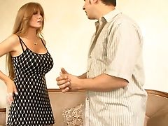 Big Tits, Blowjob, Clothed Sex, Couch, Cute, Darla Crane, Dress, Ginger, Hardcore, Homemade,