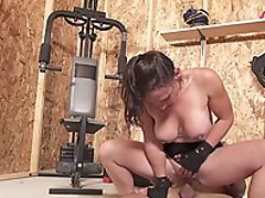 Anal Sex, Big Tits, Blowjob, Brunette, Couple, Cowgirl, Doggystyle, Fake Tits, Fingering, Gym,