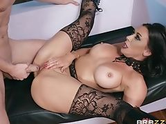 Big Tits, Boots, Couple, Cowgirl, Fake Tits, Fishnet, Hardcore, High Heels, Leather, Lingerie,