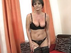 Dildo, Granny, Mature, Pussy, Short Haired,