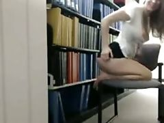 Babe, Cute, Flashing, Librarian, Private, Solo,
