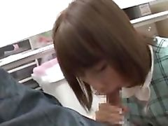 Ball Licking, Blowjob, Close Up, Couple, Japanese, Miniskirt, Office, Oral Sex, Secretary,