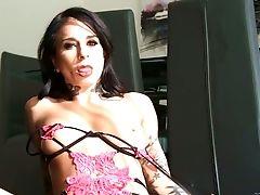 Anal Sex, Ass, Big Tits, Blowjob, Brunette, Clamp, Cowgirl, Cumshot, Double Penetration, Facial,