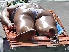 Beach, Fetish, Foot Fetish, Latina, Outdoor, Public, Voyeur,