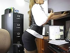 Ass, Bathroom, Dick, Emo, From Behind, Mature, Miniskirt, Moaning, Office, Riding,