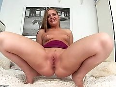 Babe, Brunette, Dildo, Masturbation, Natural Tits, Pretty, Pussy, Riding, Sex Toys, Shaved Pussy,